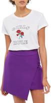 Topshop Asymmetrical Miniskirt