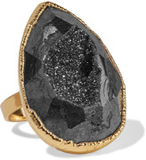 Dara Ettinger Gold-plated stone ring