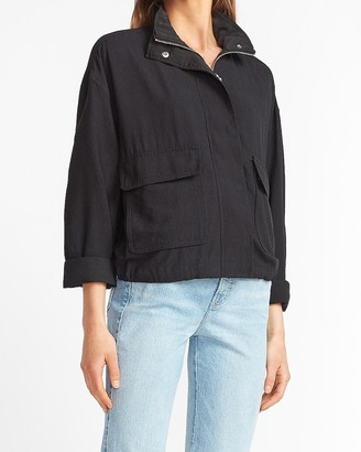 Express Relaxed Zip Front Jacket