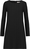 Chloé Metalic pinstriped silk-blend mini dress
