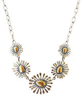 Lucky Brand Two Tone Floral Collar Necklace