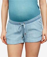A Pea in the Pod Maternity Chambray Drawstring Shorts