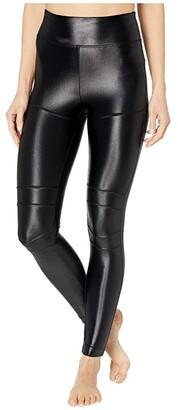 Koral Moto High-Rise Infinity Leggings (Black) Women's Casual Pants