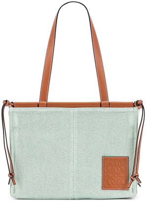 Loewe Cushion Tote Small Bag in Aqua | FWRD