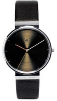 Jacob Jensen Dimension Series Men's Quartz Watch with Dial Analogue Display and Black Leather Strap 843