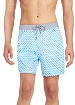 Mr.Swim Bumps Printed Swim Trunks