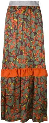 I'M Isola Marras floral print long ruffle skirt