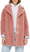 Topshop Borg Faux Fur Cocoon Coat