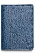 hook + ALBERT Men's Vertical Leather Wallet - Blue
