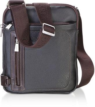 Chiarugi Genuine Leather Men's Crossbody Bag w/Canvas Strap
