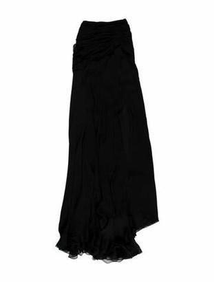 Naeem Khan Silk Long Dress w/ Tags Black