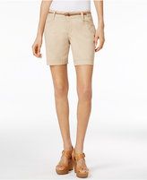 Lee Platinum Petite Georgia Belted Shorts, A Macy's Exclusive