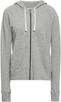 James Perse Melange French Cotton-terry Hoodie