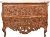 One Kings Lane Vintage Rococo-Style Hand-Carved Dresser