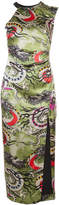 Nicole Miller one shoulder print dress