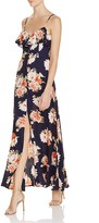 Band of Gypsies Floral Flounce Maxi Dress