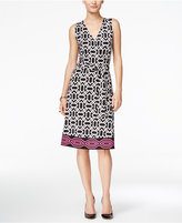 INC International Concepts Petite Printed Wrap Dress, Only at Macy's