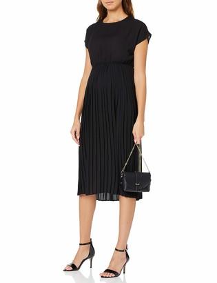 New Look Maternity Women's Plain SS Pleated MIDI Dress