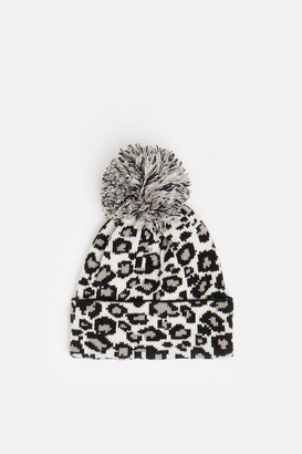 Coast Leopard Print Bobble Hat