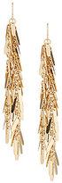 Natasha Accessories Metal Fringe Linear Drop Statement Earrings