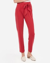 Express Mid Rise Paperbag Waist Knit Pant