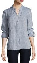 Nic+Zoe Drifty Linen Button-Front Top, Petite