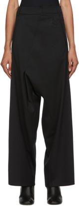 MM6 MAISON MARGIELA Black Wool Asymmetric Trousers