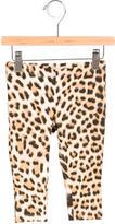Roberto Cavalli Girls' Leopard Print Mid-Rise Leggings w/ Tags