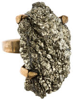 Stephen Dweck Statement Pyrite Cocktail Ring