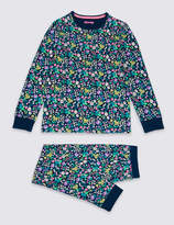 Marks and Spencer Ditsy Print Pyjamas with Stretch (3-16 Years)