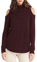 Michael Stars Women's Cold Shoulder Turtleneck Top