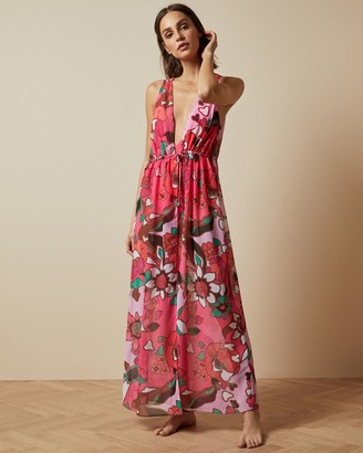 Ted Baker Maxi Plunge Neck Cover Up