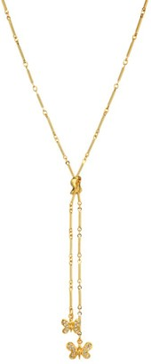 Kenneth Jay Lane 22K Goldplated & Crystal Butterfly Y-Necklace