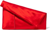 Diane von Furstenberg Satin Clutch - Red