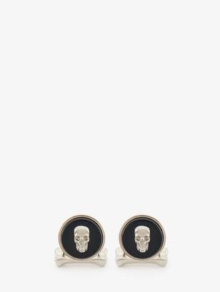 Alexander McQueen Skull Stone Cufflinks