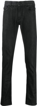 Canali Mid-Rise Slim-Fit Jeans