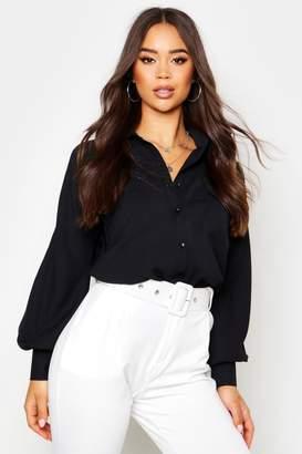 boohoo Woven Oversized Long Sleeve Shirt