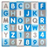 Tadpoles ABC 60-Piece Play Mat in Blue/Grey