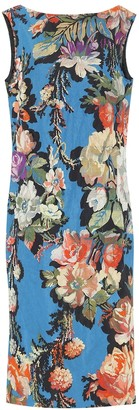 Dries Van Noten Floral brocade midi dress