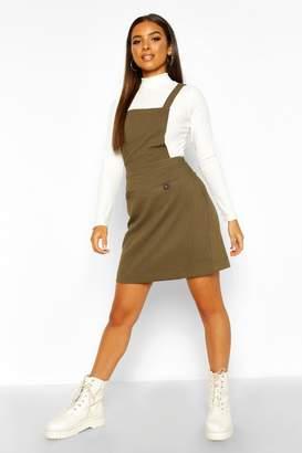 boohoo Pocket Front Pinafore Dress