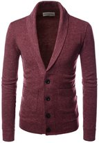 TheLees (NKCD132) Shawl Collar Basic Knit Casual Cardigan Sweaters BLACK