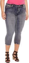 Boutique + + Cropped Denim Pants-Plus