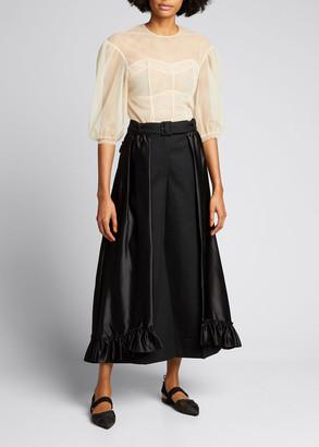 Simone Rocha Frill Skirt Overlay Trousers