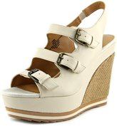 Nine West Wixsono Women US 7.5 Ivory Wedge Sandal