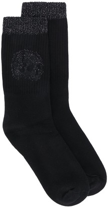 Alexander McQueen Glitter Skull Socks
