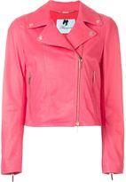 Blumarine classic biker jacket - women - Lamb Skin/Polyester/Acetate - 46