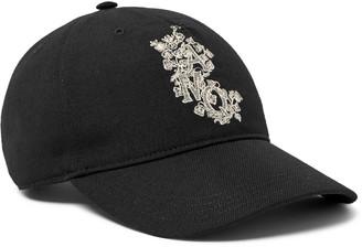 Alexander McQueen Logo-Embroidered Twill Baseball Cap