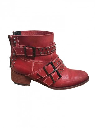 Zadig & Voltaire Red Leather Boots