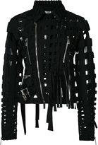Comme des Garcons cut-out biker jacket - women - Polyester - S