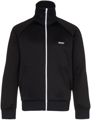 Kenzo Logo Print Cotton Blend Track Jacket